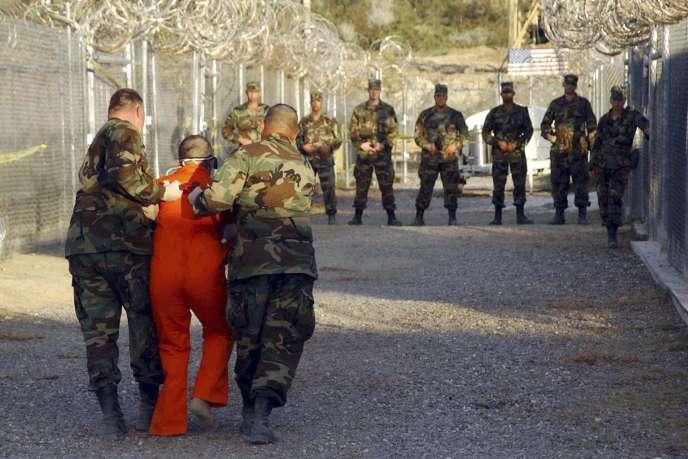 A Guantanamo, le 11 janvier 2002.