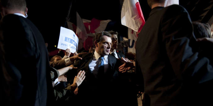 L'acteur Denis Podalydès dans le rôle de Nicolas Sarkozy dans le film de Xavier Durringer,