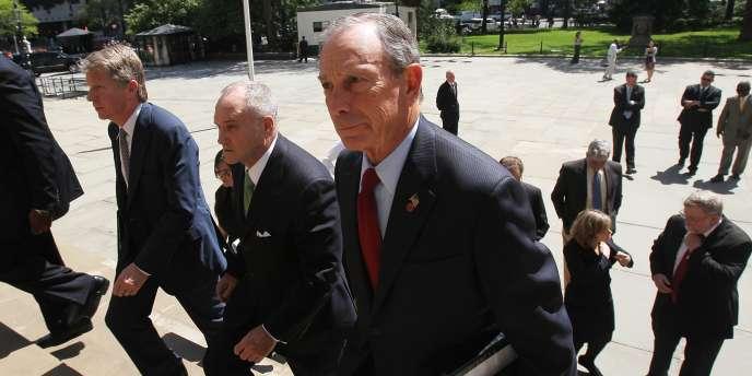 Le maire de New York Michael Bloomberg a tenu une conférence de presse sur l'arrestation des deux hommes soupçonnés de préparer un attentat.