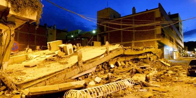 Un séisme de magnitude 5,1 a frappé le sud-est de l'Espagne mercredi 11 mai 2011.
