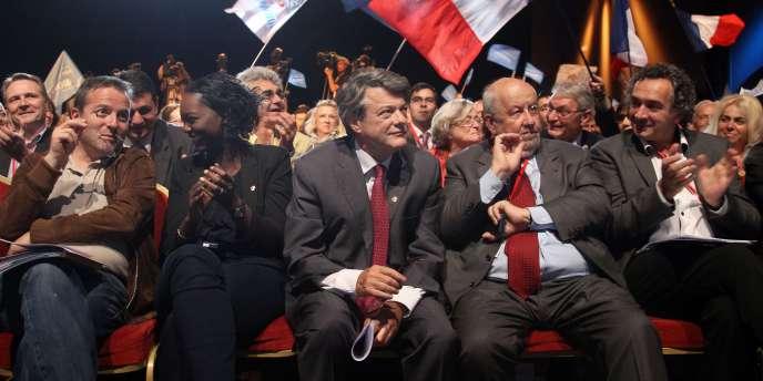 Le président du Parti radical, Jean-Louis Borloo, et André Rossinot, maire de Nancy, samedi 14 mai 2011 lors du congrès du PR.