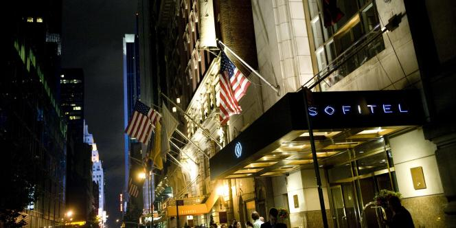 L'hôtel Sofitel de Manhattan où séjournait Dominique Strauss-Kahn le 14 mai.