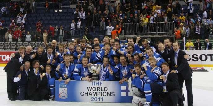 La Finlande a été sacrée dimanche championne du monde de hockey sur glace.
