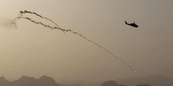 Une opération d'hélicoptères de l'OTAN au sud de l'Afghanistan, en mai 2011.