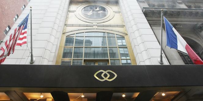 L'hôtel Sofitel de New York, sur la 44ème rue, au cœur de Manhattan.