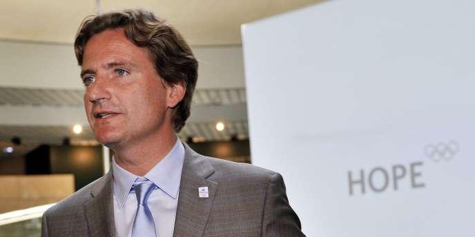 Charles Beigbeder, président d'Annecy-2018, le 18 mai à Lausanne.