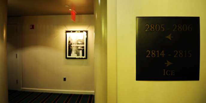 Vue des couloirs du Sofitel.