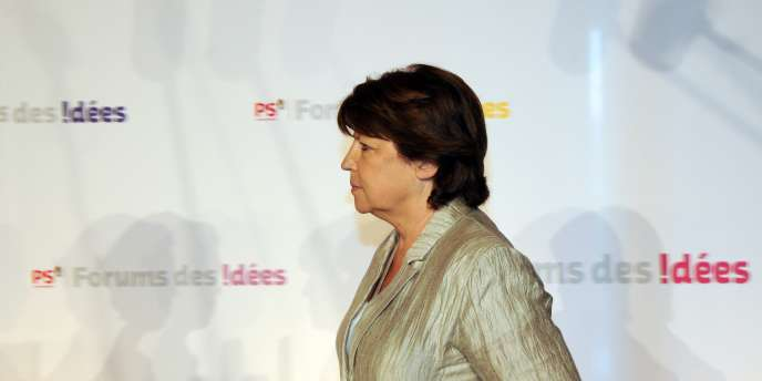 Martine Aubry au Forum des idées, à Toulouse, mercredi 18 mai.