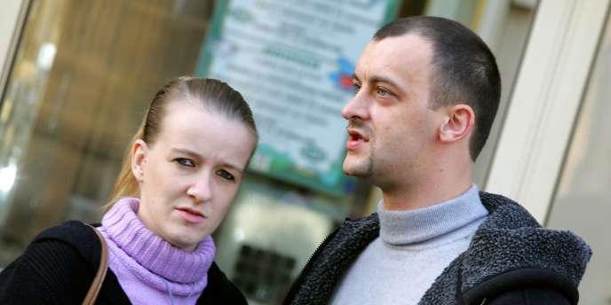 Sandrine et Franck Lavier, en 3 novembre 2005.