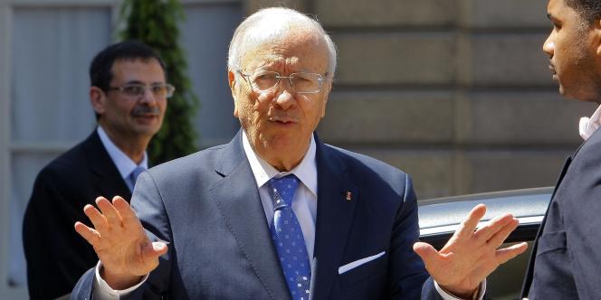 Le premier ministre tunisien Beji Caid Essebsi, le 18 mai 2011 à l'Elysée,.