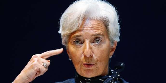 La ministre de l'économie Christine Lagarde, lors d'une conférence de presse à Nanjing, le 31 mars.
