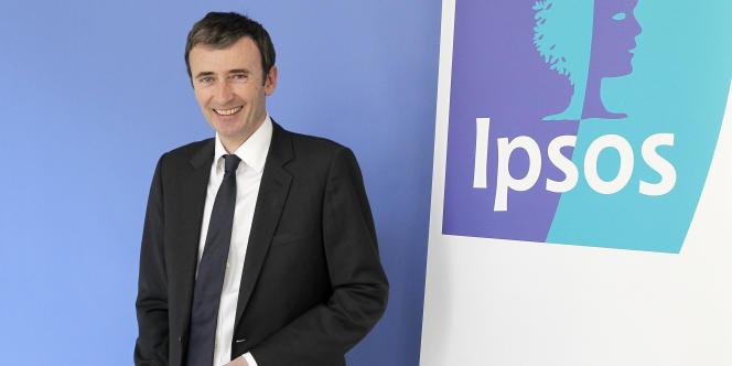 Brice Teinturier, le directeur général délégué de l'institut d'études Ipsos, le 23mars2011 à Paris.