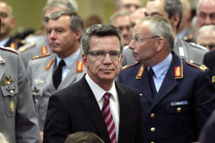 Le ministre allemand de la défense, Thomas de Maizière, à Berlin, le mercredi 18 mai 2011.