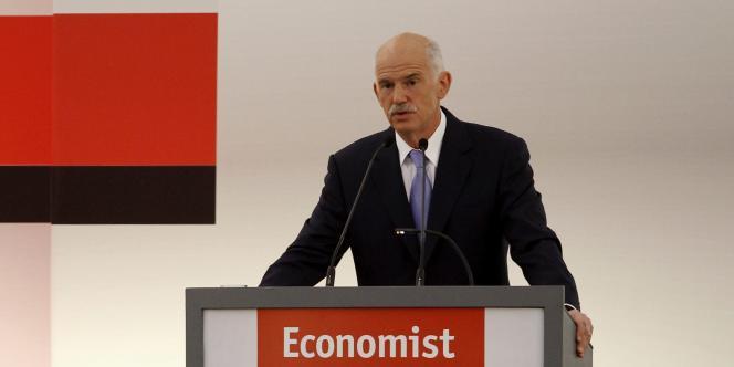 Le premier ministre grec George Papandreou lors d'une conférence à Athènes, le 17 mai.