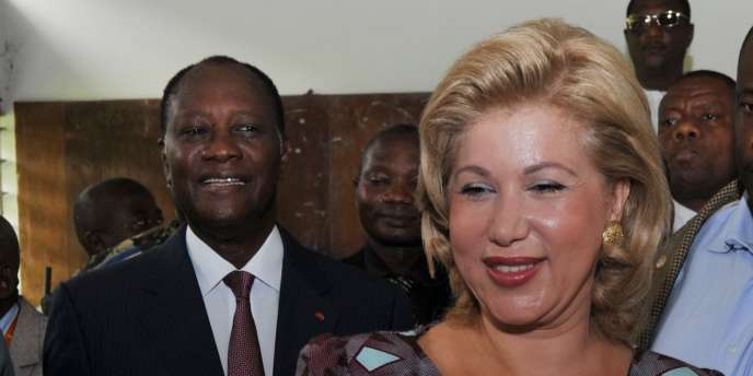Dominique Ouattara, l'épouse Alassane Ouattara, le 31 octobre 2010 à Abidjan.