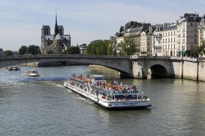 Vue de l'île de la Cité à Paris, le 19 juillet 2010.