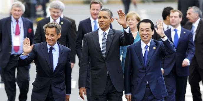 Les dirigeants des huit plus grandes puissances économiques , réunis à Deauville les 26 et 27 mai.