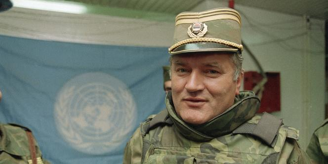 Ratko Mladic en mai 1993.