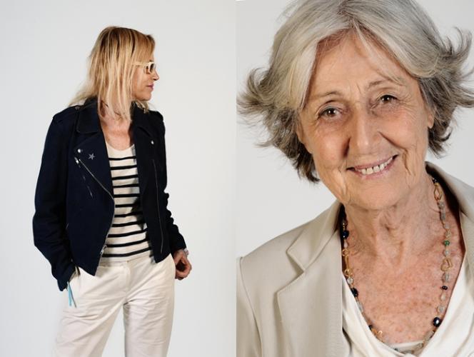 Rencontre des écrivaines Laure Adler et Rosetta Loy, lors des Assises internationales du roman, organisées à Lyon jusqu'au 29 mai 2011.