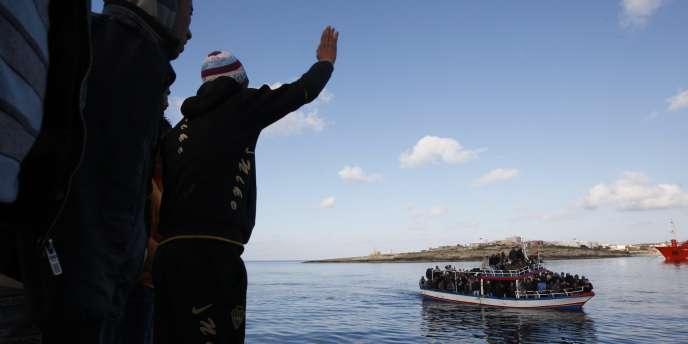 Au port de Lampedusa, en mars 2011.