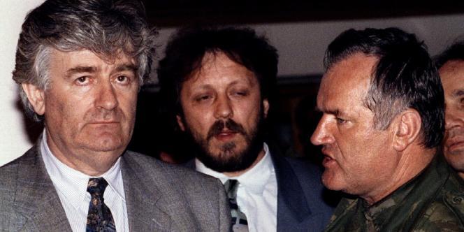 Radovan Karadzic et Ratko Mladic, à Pale en mai 1993.
