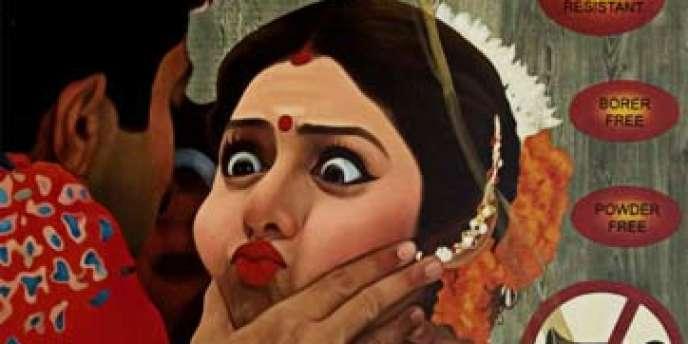 Le propos de l'exposition insiste sur les aspects politiques dans les oeuvres des artistes indiens sélectionnés.