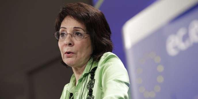 Maria Damanaki, la commissaire européenne à la pêche et aux affaires maritimes, en mai 2011 à Bruxelles.