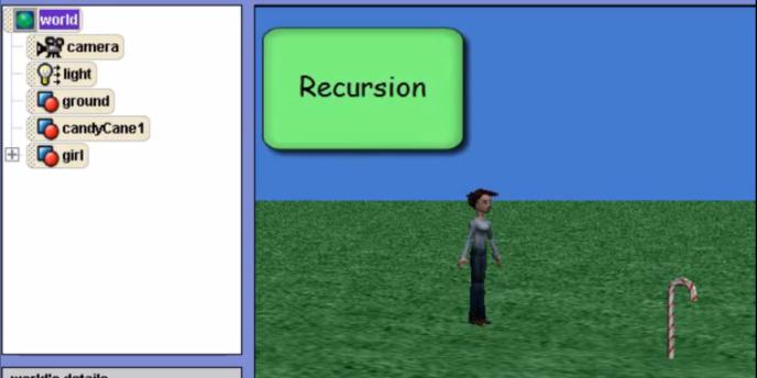 Alice, un système de programmation créé par l'université Carnegie Mellon et destiné aux jeunes filles.