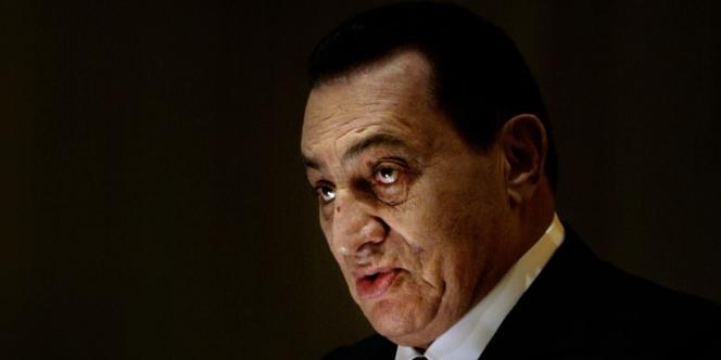 L'ex-président égyptien Hosni Moubarak, en novembre 2008.