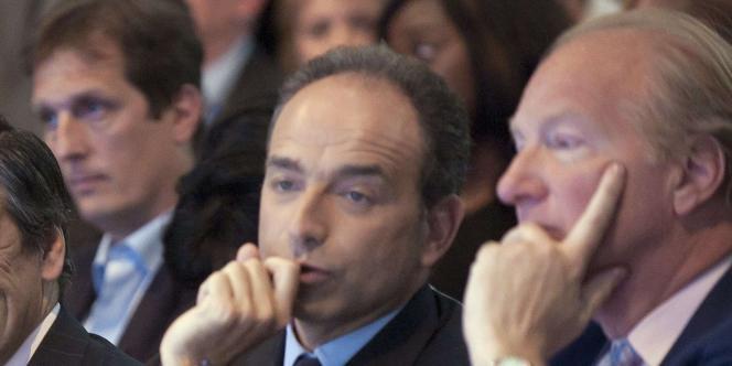 Jean-François Copé et Brice Hortefeux, le 28 mai 2011 à Paris.
