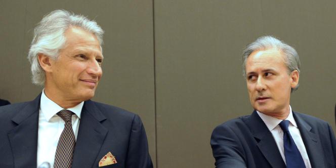 Georges Tron avec Dominique de Villepin, en avril 2009.