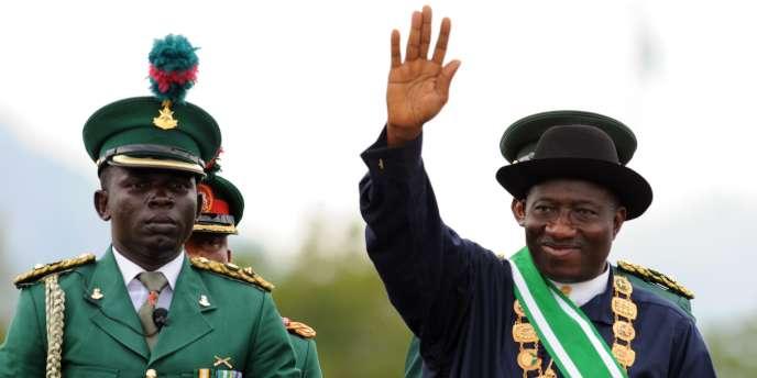 Le président nigérian Goodluck Jonathan après son investiture à Abuja, dimanche 29 mai 2011.