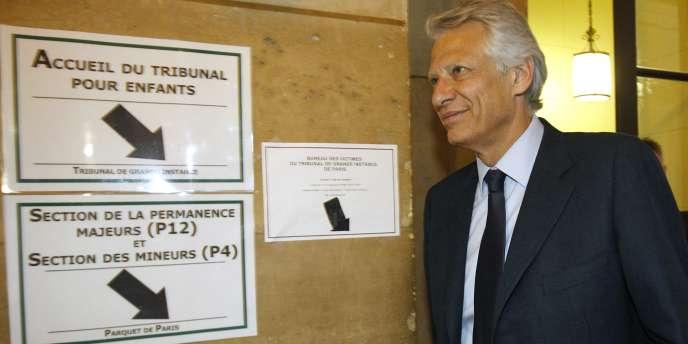 Dominique de Villepin, le 23 mai, au Palais de justice de Paris.
