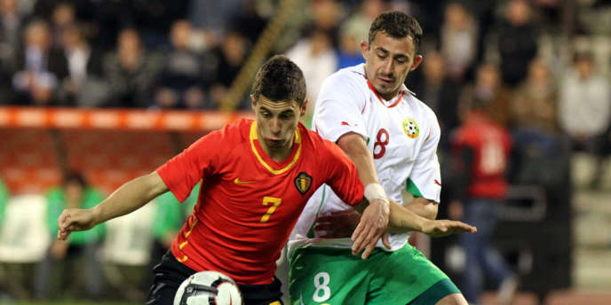 Eden Hazard, le 19 mai 2010 face à la Bulgarie.