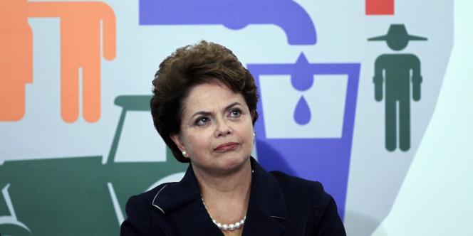 La présidente brésilienne lors du lancement du programme