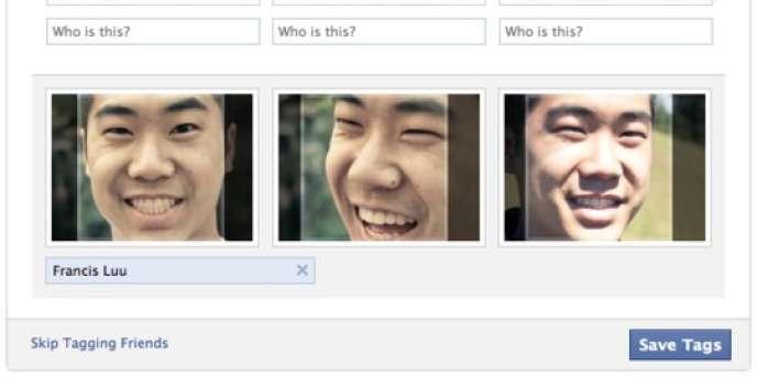 Le système de reconnaissance faciale de Facebook.