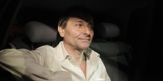 Cesare Battisti à sa sortie de la prison de Brasilia, le 9 juin 2011.