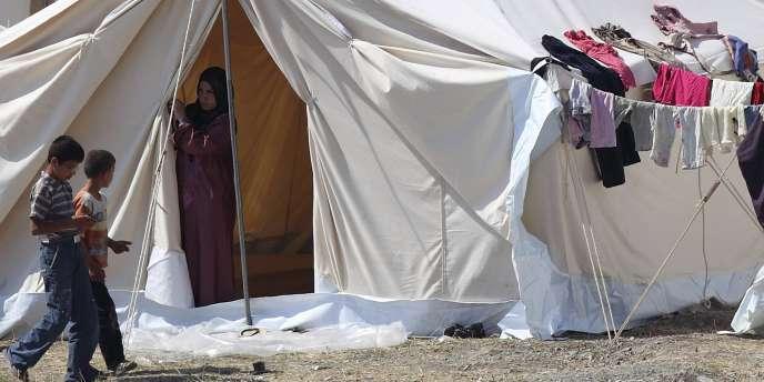 Un camp de réfugiés en Turquie, près de la frontière syrienne, le 9 juin.