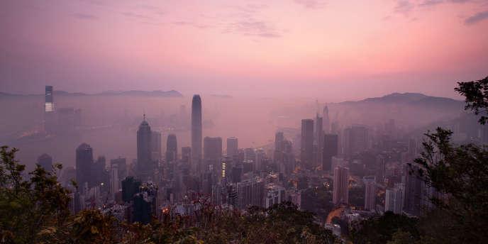 Une vue aérienne de Hongkong, prise le 3 avril.