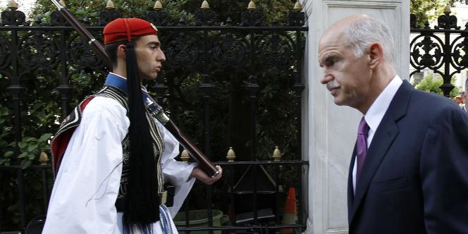 Le premier ministre grec George Papandréou, le 25 mai 2011.