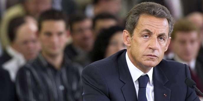 Nicolas Sarkozy, jeudi 9 juin à La Rochefoucauld.