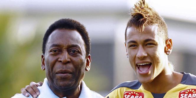 Pelé et Neymar le 13 juin.
