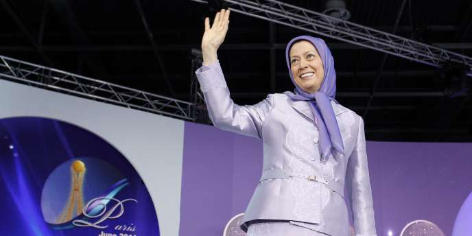 La présidente de l'organisation des Moudjahidines du peuple d'Iran (OMPI), Maryam Radjavi, lors d'un rassemblement à Villepinte, le 18 juin 2011.