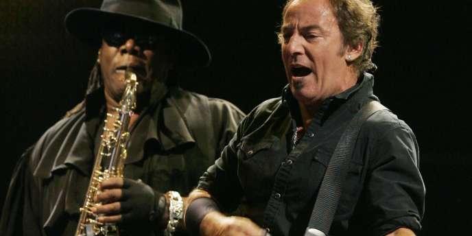 Bruce Springsteen et Clarence Clemons, à Madrid, le 17 juillet 2008.