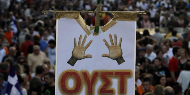 Manifestation à Athènes, le 19 juin 2011.
