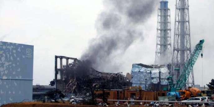 La centrale de Fukushima, le 21 mars 2011.