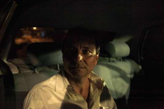 Cesare Battisti lors de sa sortie de prison à Brasilia, le 8juin 2011.
