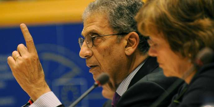 Amr Moussa, secrétaire général de la ligue arabe, le 20 juin, à Bruxelles.
