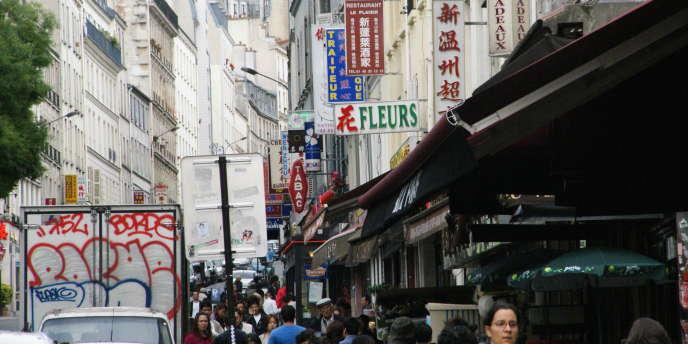 La rue de Belleville, dans le 20e arrondissement de Paris.