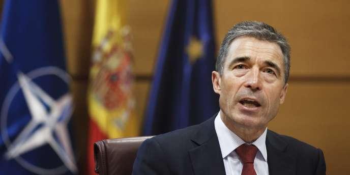 Anders Fogh Rasmussen, secrétaire général de l'Alliance atlantique, à Madrid, le 16 juin 2011.